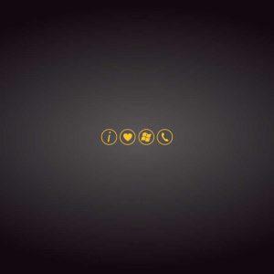 I Love Windows Phone Yellow